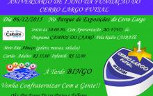 Cerro Largo Futsal define programação para comemoração do seu primeiro aniversário.