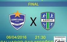 Cerro Largo Futsal e Abelc decidem hoje a noite, a Copa Inovação